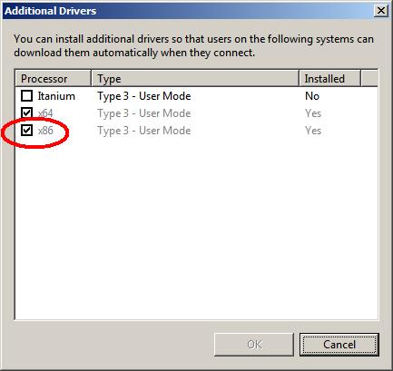Sterowniki 32-bitowe na 64-bitowym serwerze Windows