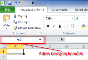 Microsoft Excel - Adres komórki